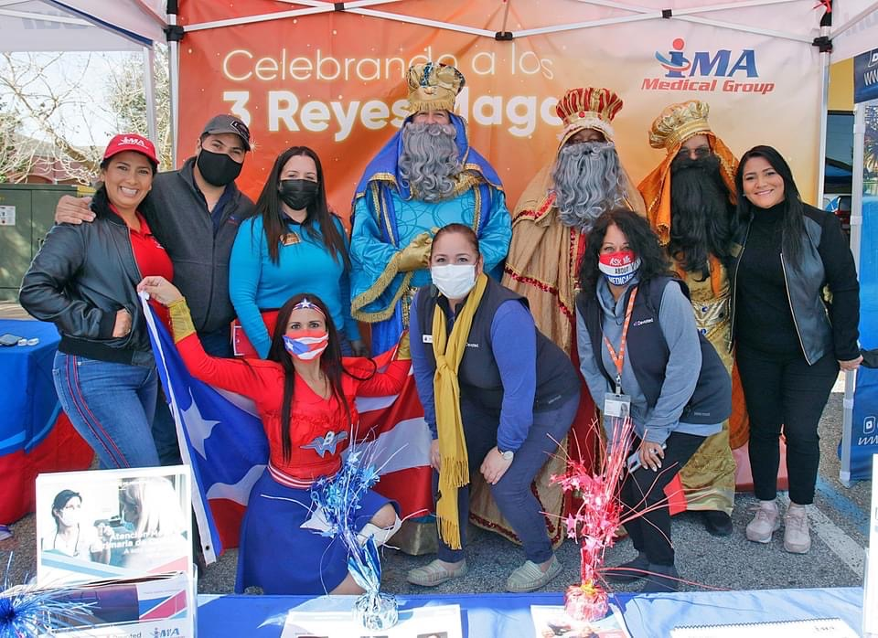 IMA Medical Group team posing for three kings day